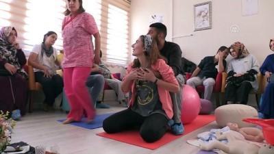 Gebe okulunda anne adayları eşleriyle eğitim alıyor - ERZİNCAN