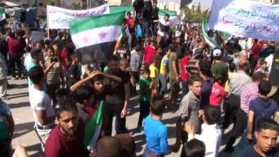 - İdlib'de Halk Türklere Şükran, Esad'a Öfke Gösterisi Yaptı - İdlibliler Rejimin Hapishanelerindeki Tutukluların Serbest Bırakılmasını İstedi