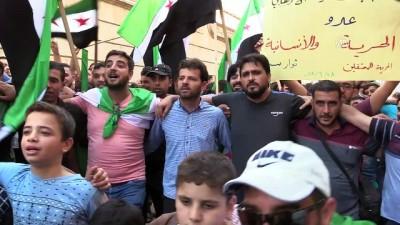 rejim karsiti - İdlibliler rejimin alıkoyduğu sivillere özgürlük istedi - İDLİB