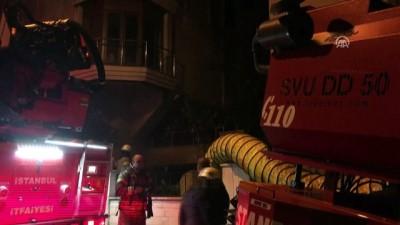 itfaiye araci - Yangında mahsur kalanların imdadına itfaiye yetişti - İSTANBUL