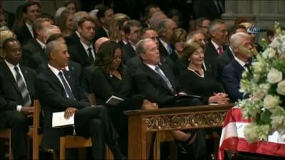 - BBush'un Bayan Obama'ya Ne Verdiği Anlaşıldı