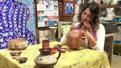 Çini ustasının hayalini kızı gerçekleştiriyor - KAYSERİ