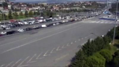 Fatih Sultan Mehmet Köprüsü üzerinde intihar girişimi nedeniyle bölgede trafik yoğunluğu oluştu