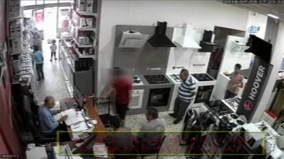 Hırsızlık zanlısı önce kameraya ardından polise yakalandı
