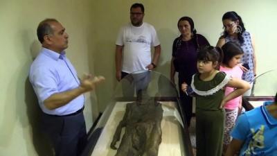 Amasya Müzesi'ndeki mumyalara ziyaretçi ilgisi - AMASYA