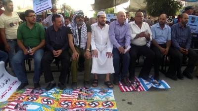 Gazzeliler ABD'nin UNRWA kararını protesto etti - GAZZE