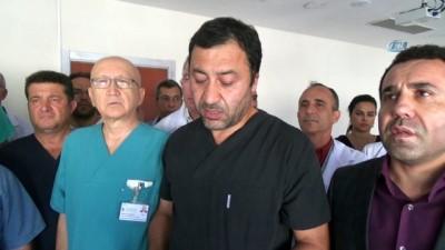 Hasta yakınları doktora tekme tokat saldırdı... Doktora saldırı kamerada