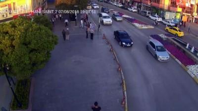 Erzincan'da meydana gelen trafik kazaları kamerada