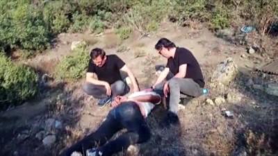 Ormanlık alana saklanan uyuşturucu maddeler ele geçirildi