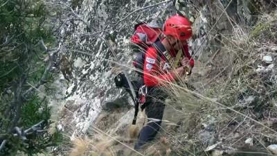 Kayalıklarda mahsur kalan keçi kurtarıldı - DENİZLİ