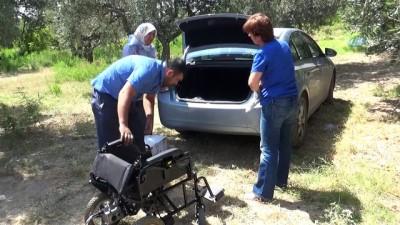 11 yıldır yatalak olan hasta akülü sandalyesine kavuştu