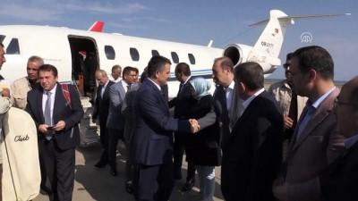 Bakanlar Turhan ve Pakdemirli, Yusufeli Barajı'nı havadan inceledi - ARTVİN
