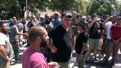 hukumet karsiti -  - KKTC'li hayvancılara biber gazlı müdahale - KKTC'de hükümet karşıtı protesto