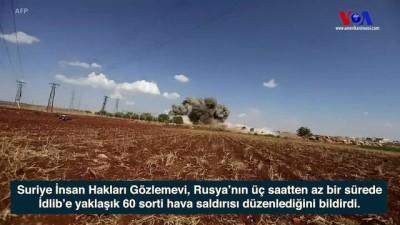 hava saldirisi - Rus Savaş Uçakları İdlib'i Bombalıyor