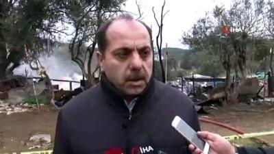 Büyükada'daki yangın anı kamerada