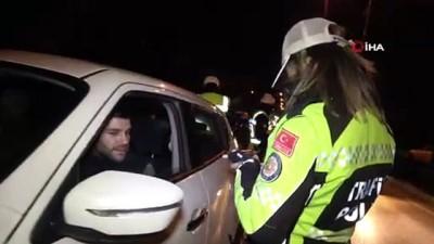 alkollu surucu -  Trafik polisi alkollü sürücülere yılın ilk cezalarını yazdı