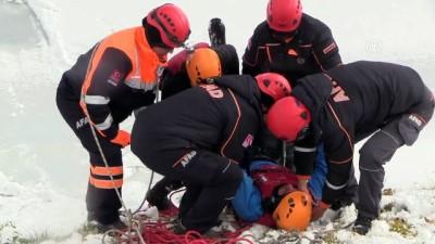 'Buz kazası' tatbikatı - ESKİŞEHİR