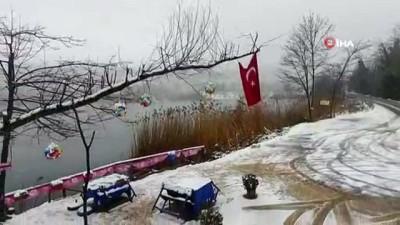 kar manzaralari -  Havadan görüntülenen Gaga Gölü kar manzarasıyla hayran bıraktı