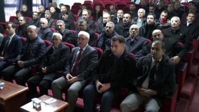 konferans -  Gercüş'te muhtarlara uyuşturucuyla mücadele konferansı verildi