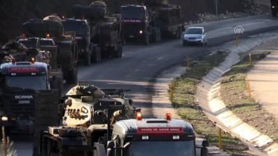 İdlib sınırına askeri sevkiyat - HATAY