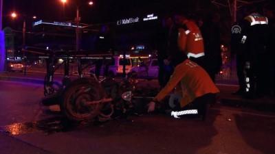 Kocaeli'de motosiklet temizlik aracına çarptı: 1 ölü