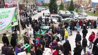 Safranbolu'da bez çanta dağıtımı - KARABÜK