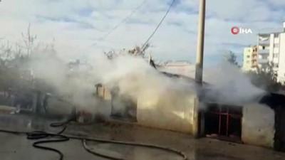 Suriyeli ailenin kaldığı ev alev alev yandı