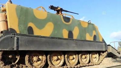 İdlib sınırına komando ve zırhlı araç sevkıyatı - HATAY