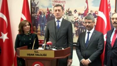 Milli Eğitim Bakanı Ziya Selçuk Uşak'a geldi