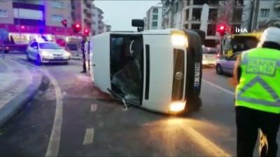 trafik kazasi -  Malatya'da 2 minibüs çarpıştı: 2 yaralı