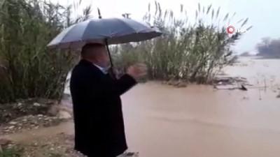 asiri yagis -  Şiddetli yağış sonrası seralar ve ekili alanlar sular altında kaldı