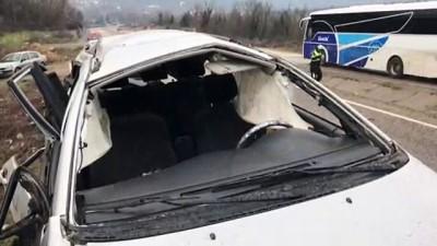trafik kazasi - Trafik kazası : 1 ölü 4 yaralı - KARABÜK