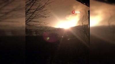 Patlamanın hemen sonrasında çekilen görüntüler kamerada