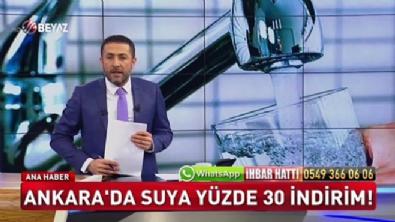 Ankara'da suya yüzde 30 indirim