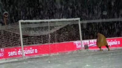 dera - Bolu Atatürk Stadı'nın zemini karla kaplandı - Hakemler ve federasyon yetkililerinin incelemesi - BOLU