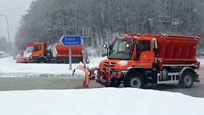 Bolu Dağı'nda kar yağışı etkili oluyor - DÜZCE/BOLU