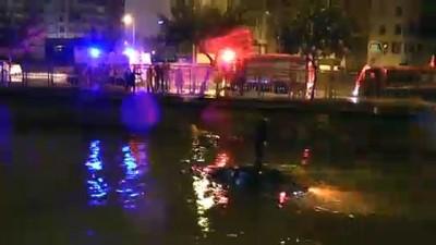 Kanala düşen otomobilin üstüne çıkarak kurtarılmayı bekledi - ADANA