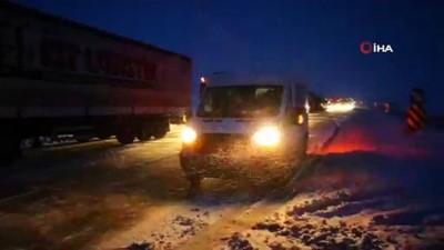 Aksaray-Adana karayolu yoğun tipi ve buzlanma ulaşıma kapandı