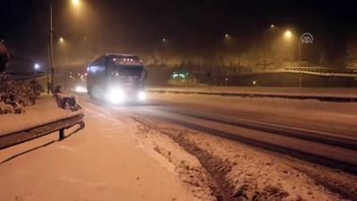 Bolu'da yoğun kar yağışı