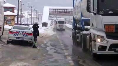 Bolu Dağı'nda kar yağışı - DÜZCE