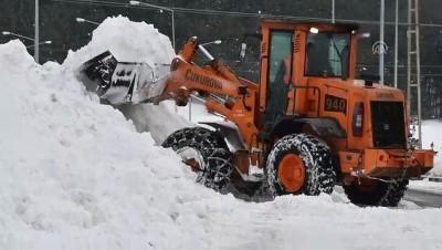 Çatıdan düşen kar ve buz kütlesi araçlara zarar verdi - KARS