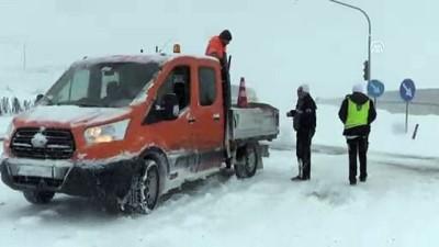 Kar yağışı ulaşımı olumsuz etkiledi - NEVŞEHİR