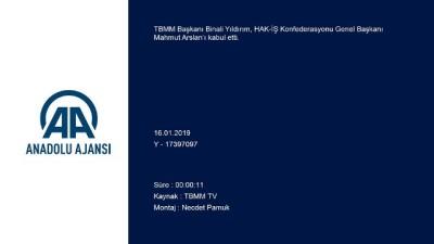dera - TBMM Başkanı Yıldırım, HAK-İŞ Konfederasyonu Genel Başkanı Mahmut Arslan'ı kabul etti - TBMM