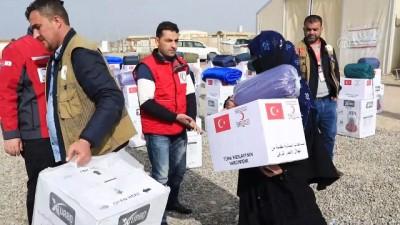 Türk Kızılayı'ndan Musullu sığınmacılara kışlık yardım - MUSUL