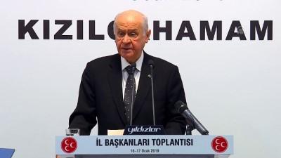 Bahçeli: 'Cumhurbaşkanlığı hükümet sistemi Türkiye'nin istikbal meşalesi, istiklal nişanesidir' - ANKARA