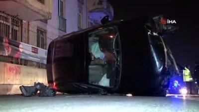 saglik ekipleri -  Kağıthane'de takla atan otomobilden burnu bile kanamadan çıktı
