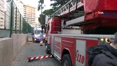Şarkıcı Ersin Faikzade ve köpeği yangın çıkan binada mahsur kaldı