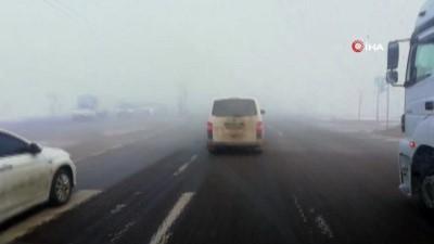 Afyonkarahisar'da yoğun sis araç trafiği olumsuz etkiledi Haberi