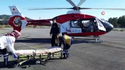 Hava ambulansı hayat kurtardı