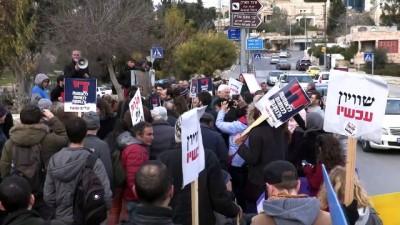 guvenlik gucleri - İsrail'in Filistinlilere ait evleri tahliye kararı protesto edildi - KUDÜS